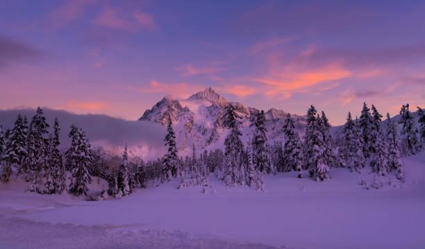 MT Shuksan no inverno - foto de acervo