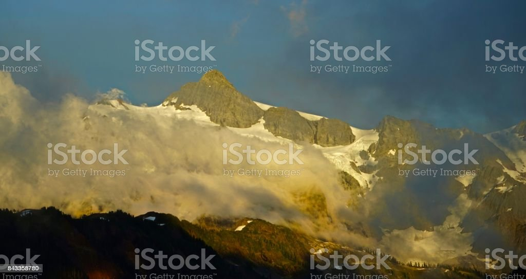 Mt. Shuksan Mystic stock photo