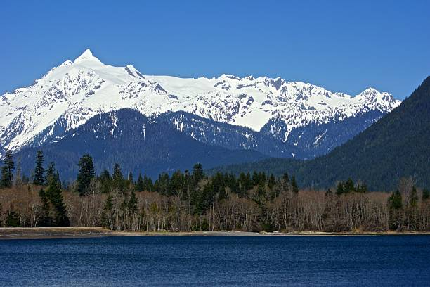 Monte Shuksan parede - foto de acervo