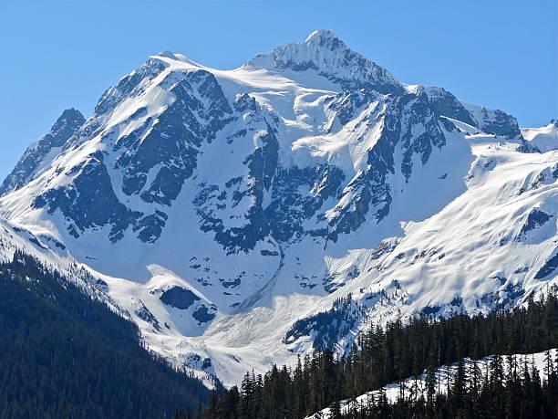 Monte Shuksan sagrados da gelo - foto de acervo