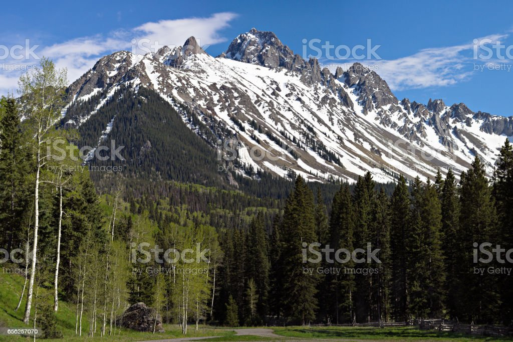 Mt. Sneffels in the San Juan Mountains. stock photo