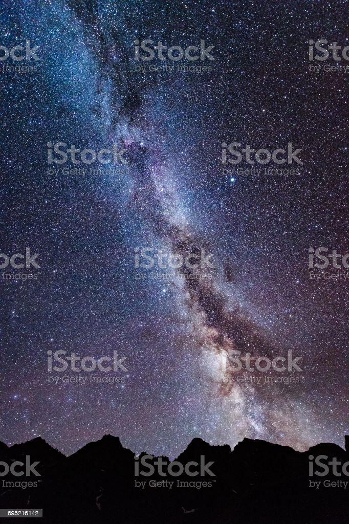Mt. Sneffles Milky Way stock photo