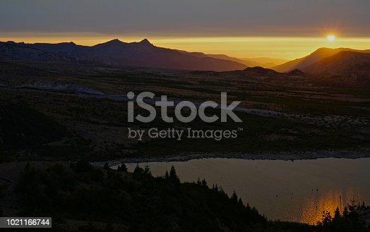 Mt. St. Helens National Volcanic Monument. Southwest Washington's Cascade Range. Gifford Pinchot National Forest. The Spirit Lake Area At Sunset.