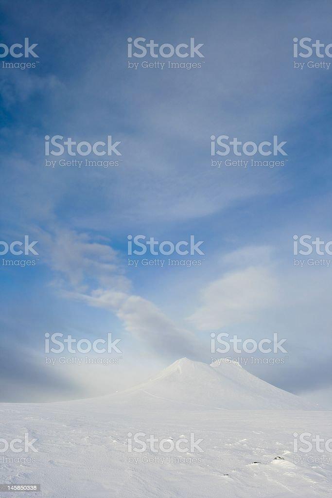 Mt. Städjan and clouds stock photo
