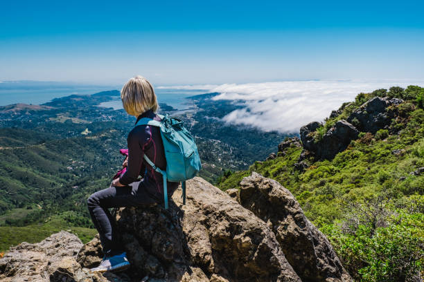 Mt Tamalpais hike, Marin County, California, USA stock photo