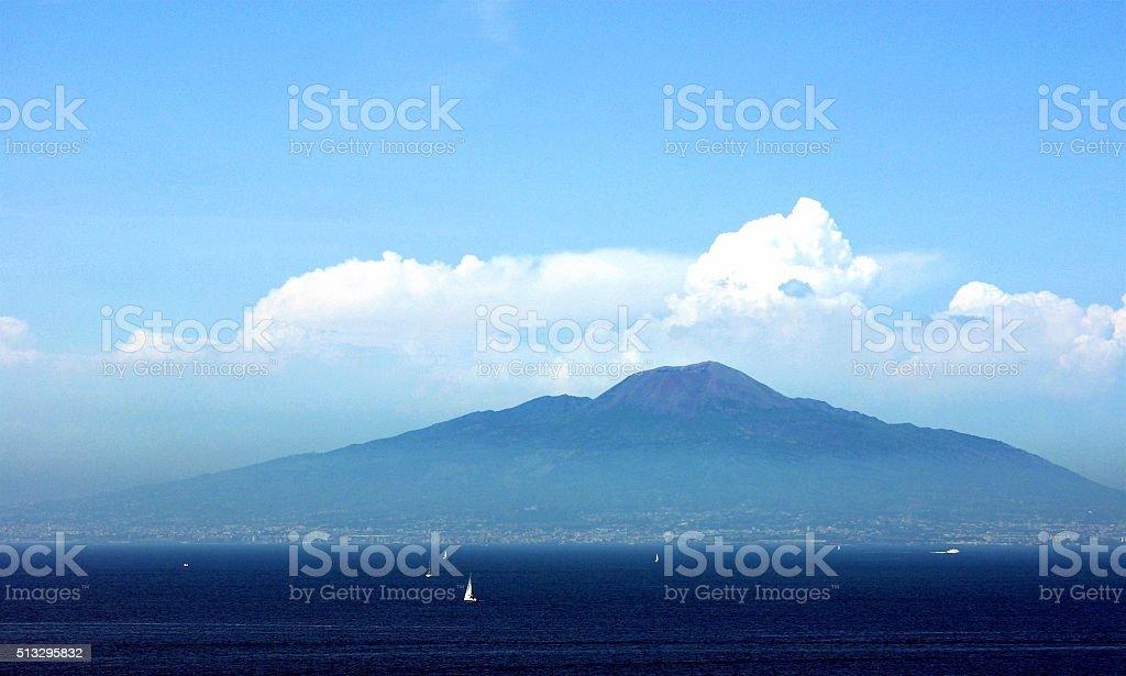 Mt. Vesuvius in the Sunshine stock photo