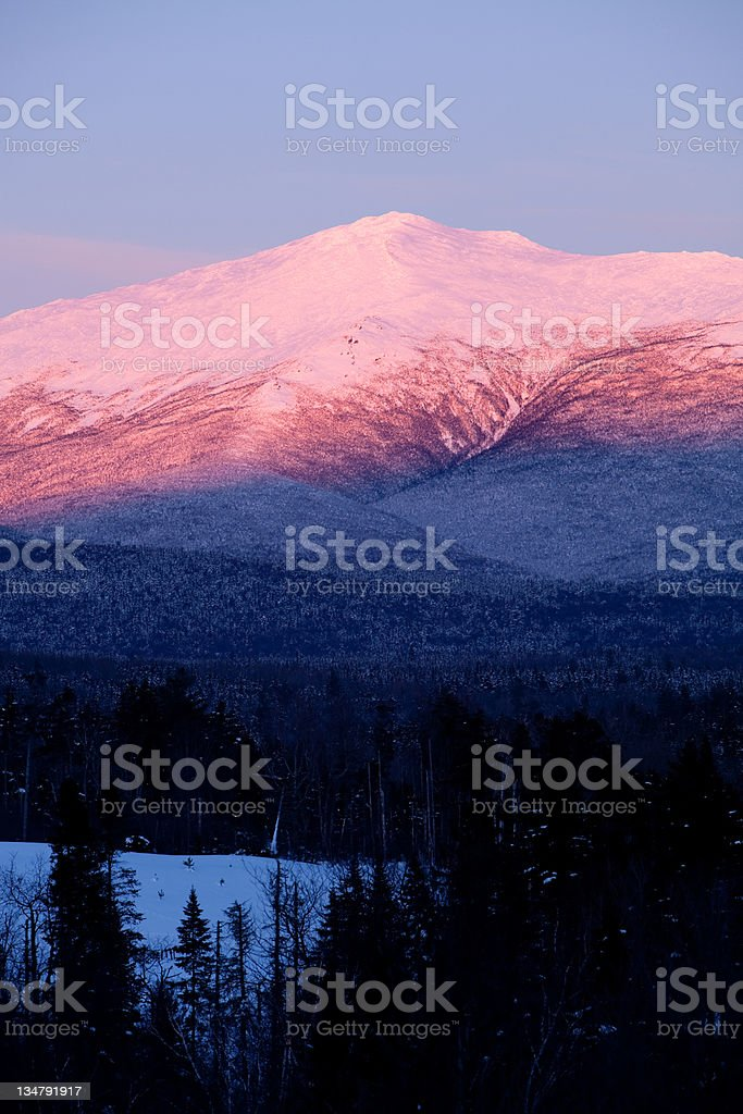 Mt Washington Alpine Glow royalty-free stock photo