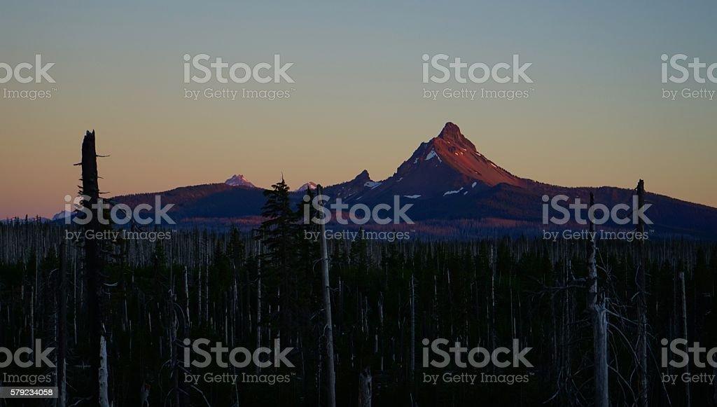 Mt. Washington Sunset stock photo