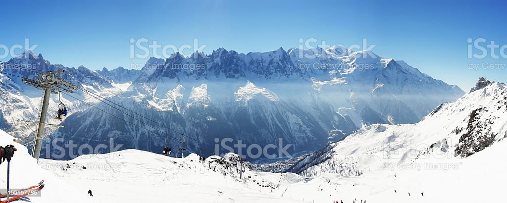 Mt. Blanc stock photo