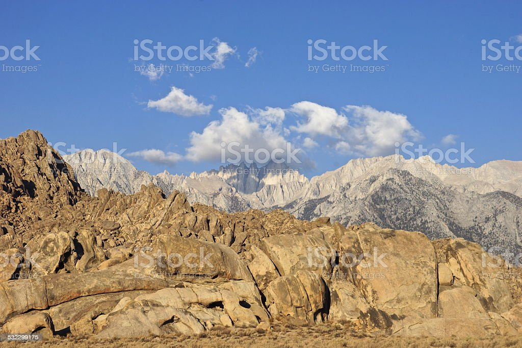 Mt. Whitney Boulders stock photo