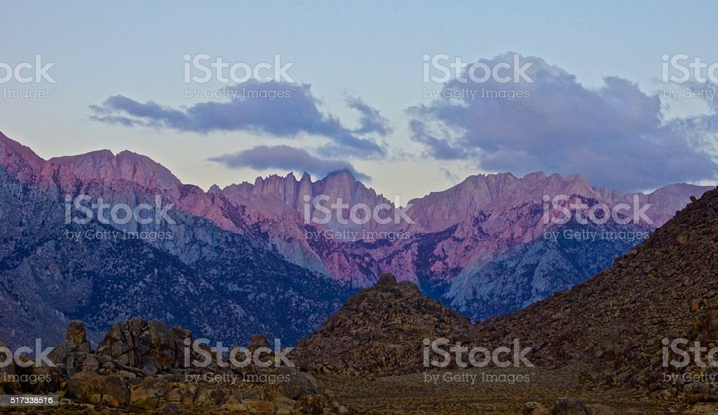 Mt. Whitney Dawn stock photo