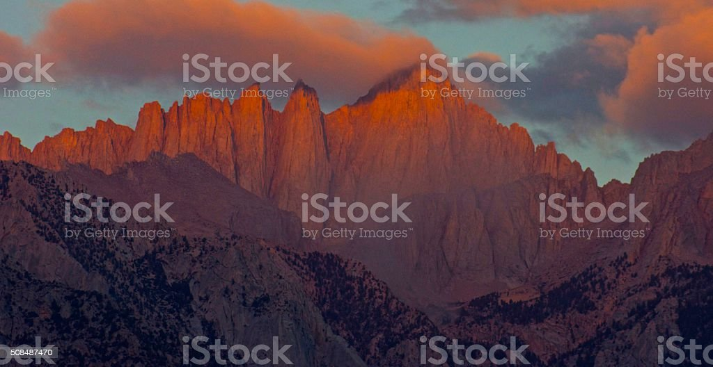 Mt. Whitney High Fire stock photo