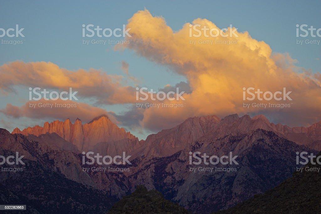 Mt. Whitney Lion Cloud stock photo