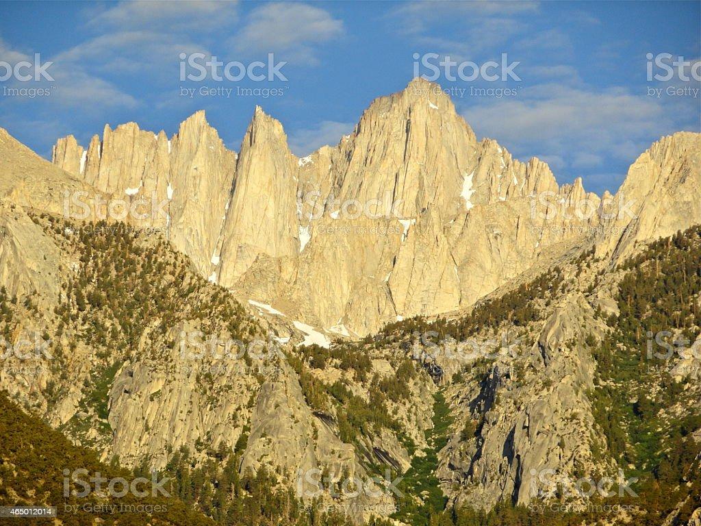 Mt. Whitney Morning stock photo