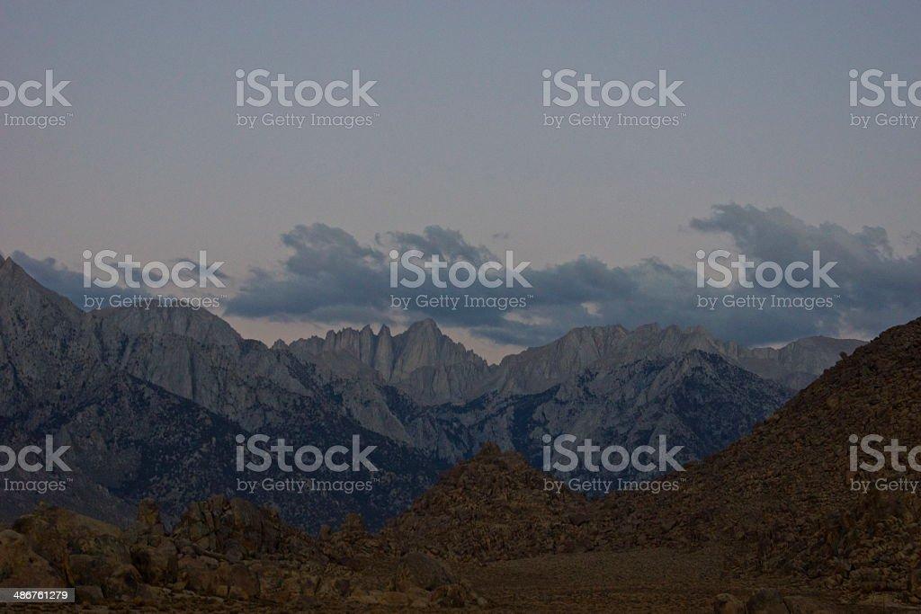 Mt. Whitney Silver Ridge stock photo