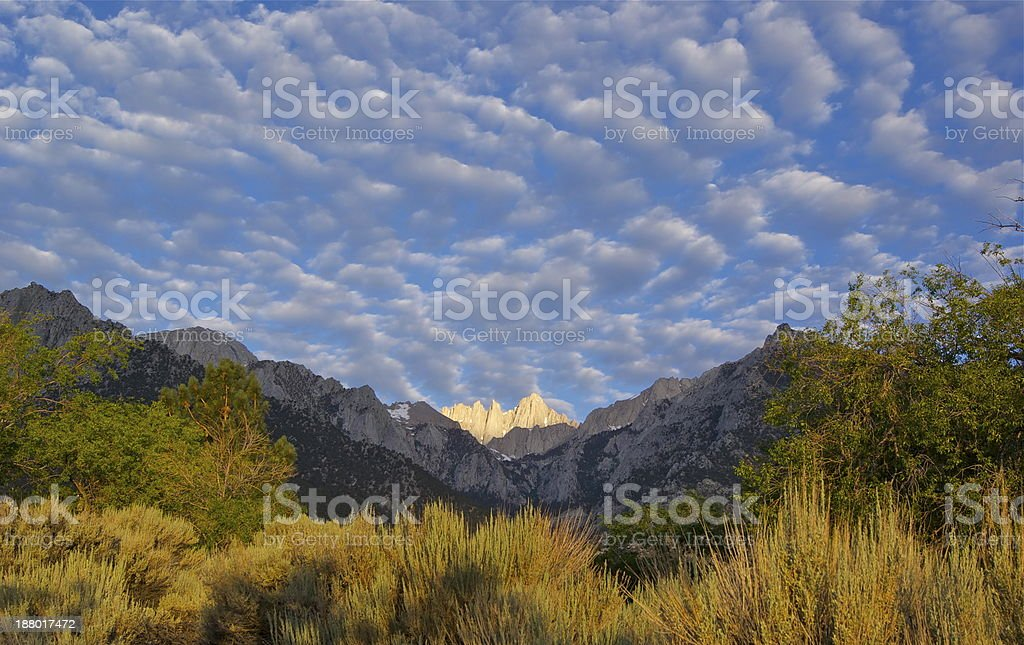 Mt. Whitney Sunrise stock photo