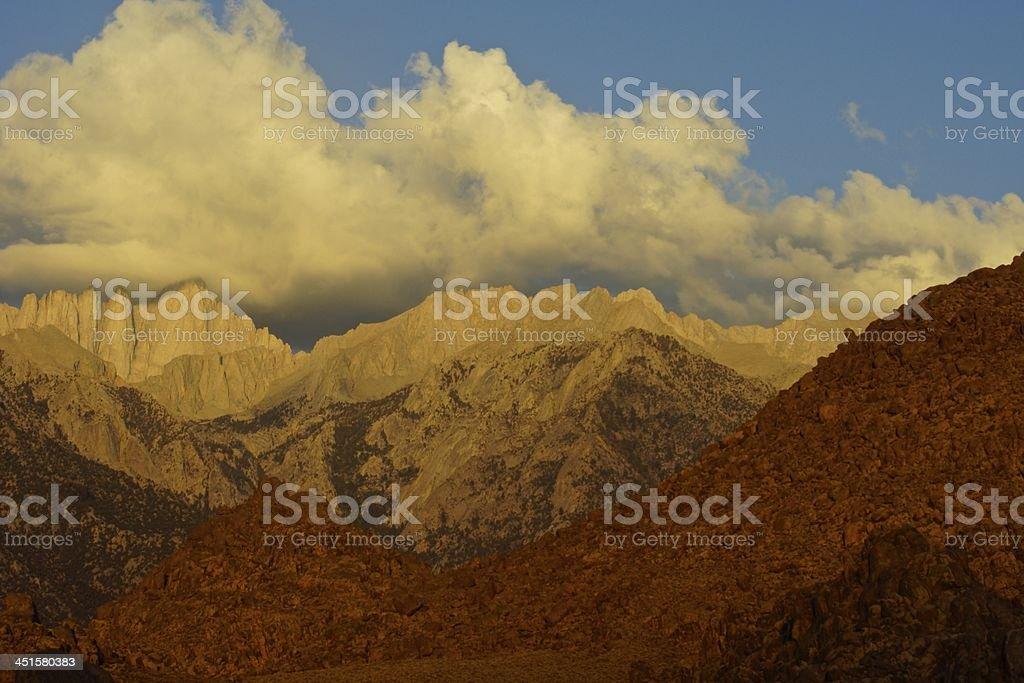 Mt. Whitney's Fire Rocks stock photo