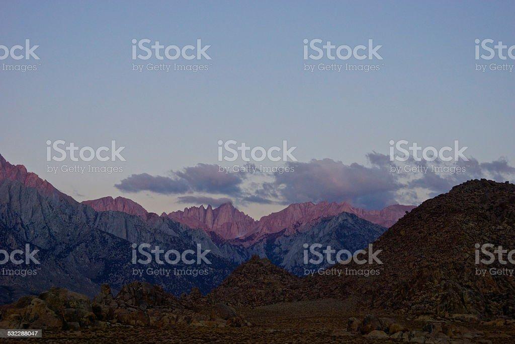 Mt. Whitney's High Ridge stock photo
