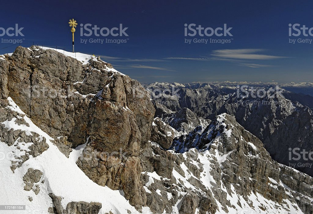 Mt. Zugspitze 2, Germanys highest mountain royalty-free stock photo