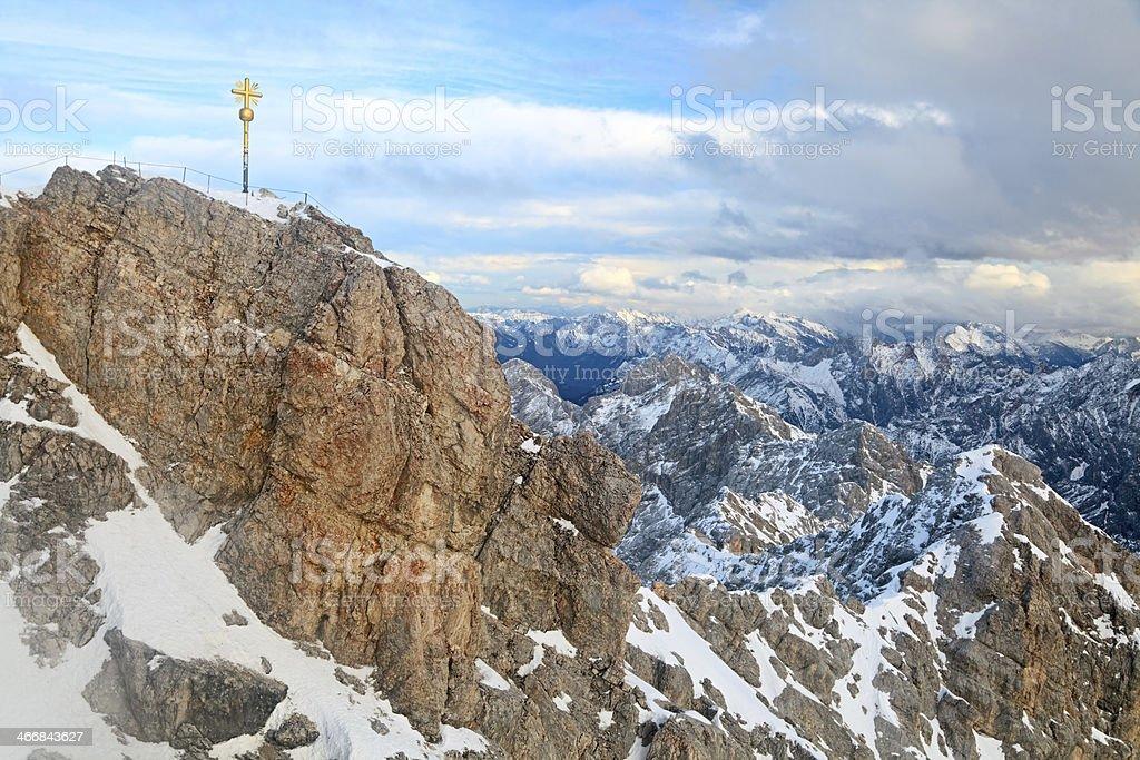 Mt Zugspitze, Germany stock photo