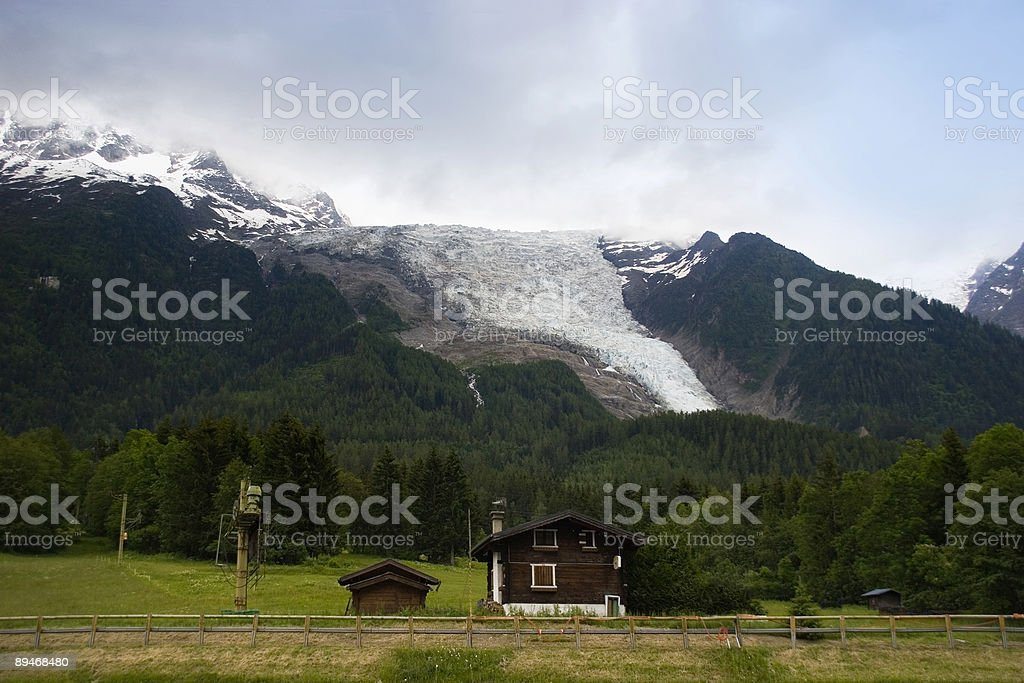 Mt.Blanc glacier royalty free stockfoto