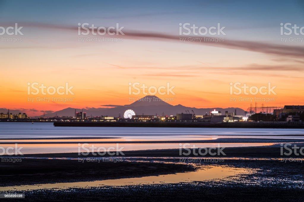 Mt.Fuji and Tokyo Bay at sunset Mt.Fuji and Tokyo Bay at sunset Asia Stock Photo