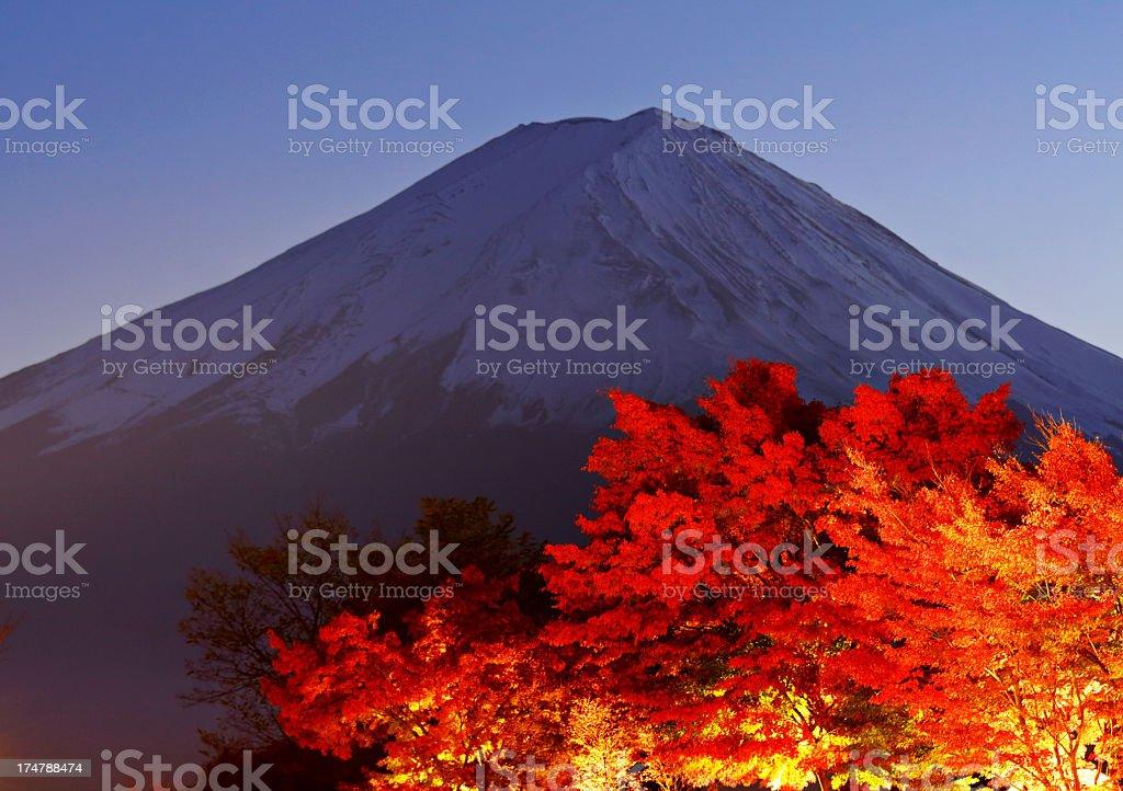 Mt.Fuji at dusk royalty-free stock photo