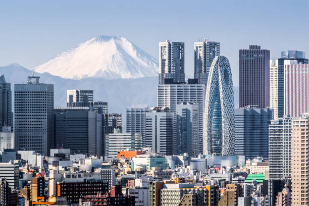 mt.fuji - tokyo japan stock photos and pictures