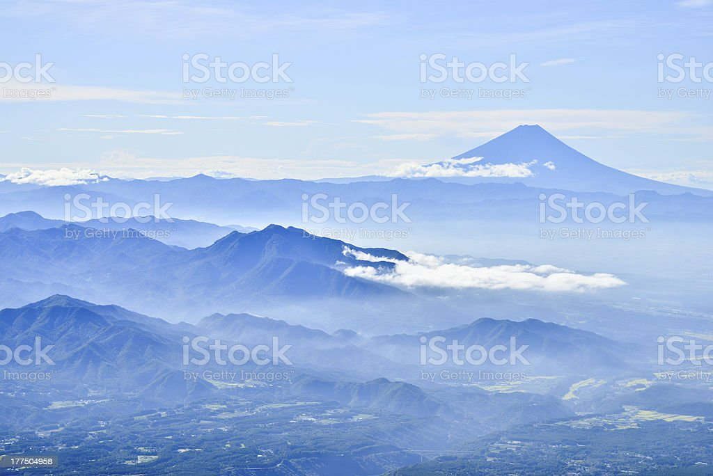 Mt.Fuji taken from Mt.Yatsugatake stock photo