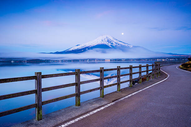 Fujisan mit See Yamanaka, Yamanashi, Japan – Foto