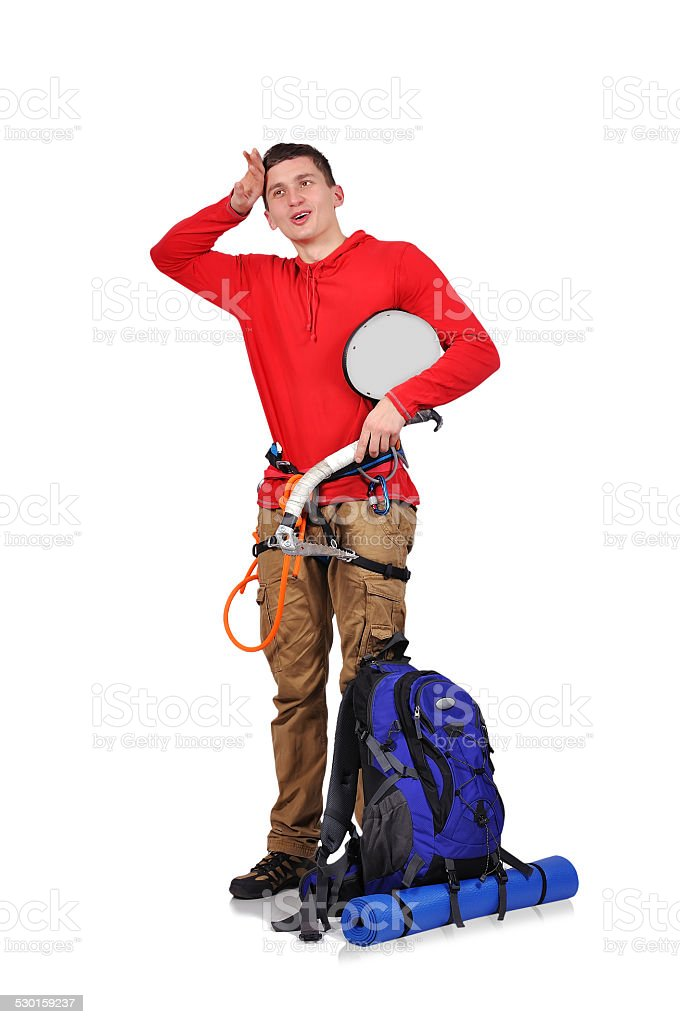 mtired an hiker stock photo
