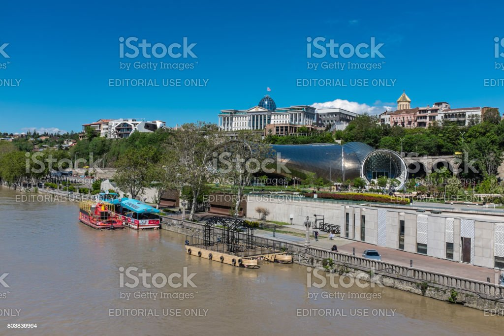 Mtkvari River, Tbilisi, Georgia, Eastern Europe stock photo