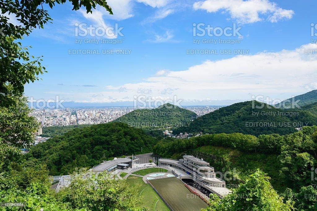 Mt.Okura Ski Jump Stadium royalty-free stock photo
