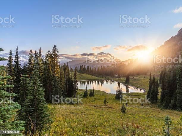 Photo of MT.Rainier in sunset