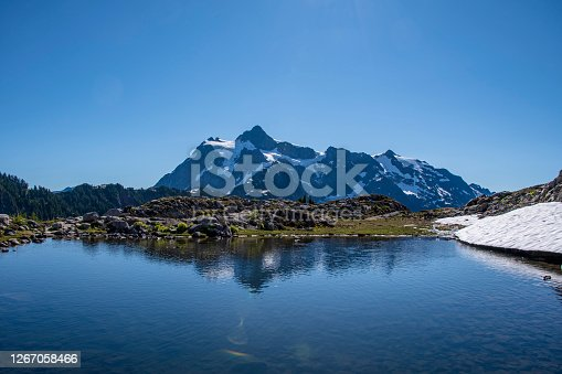 Mount Shuksan in the summer time