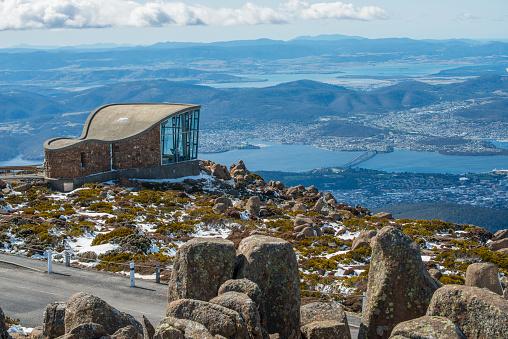 Mt.Wellington in Hobart city, Tasmania island, Australia.