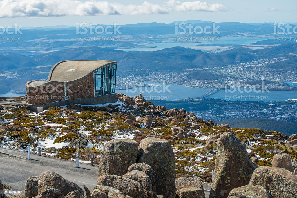 Mt.Wellington in Hobart city, Tasmania island, Australia. stock photo