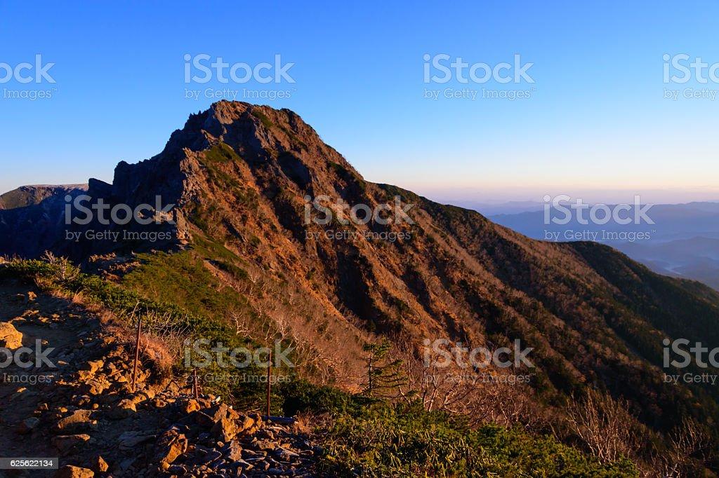 Mt.Yoko at the Yatsugatake mountains in Nagano, Japan stock photo