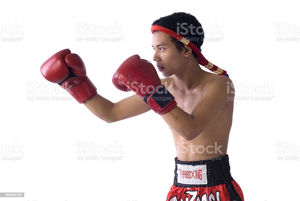 Muai thai boxer royalty-free stock photo