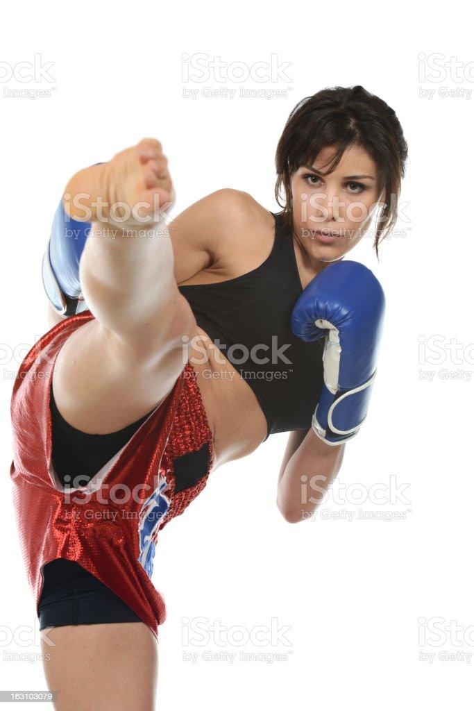 Muay Thai balance stock photo