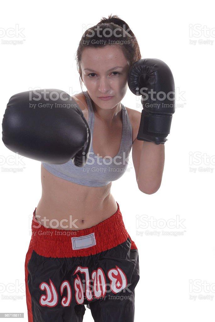 Boxe thailandese jab foto stock royalty-free