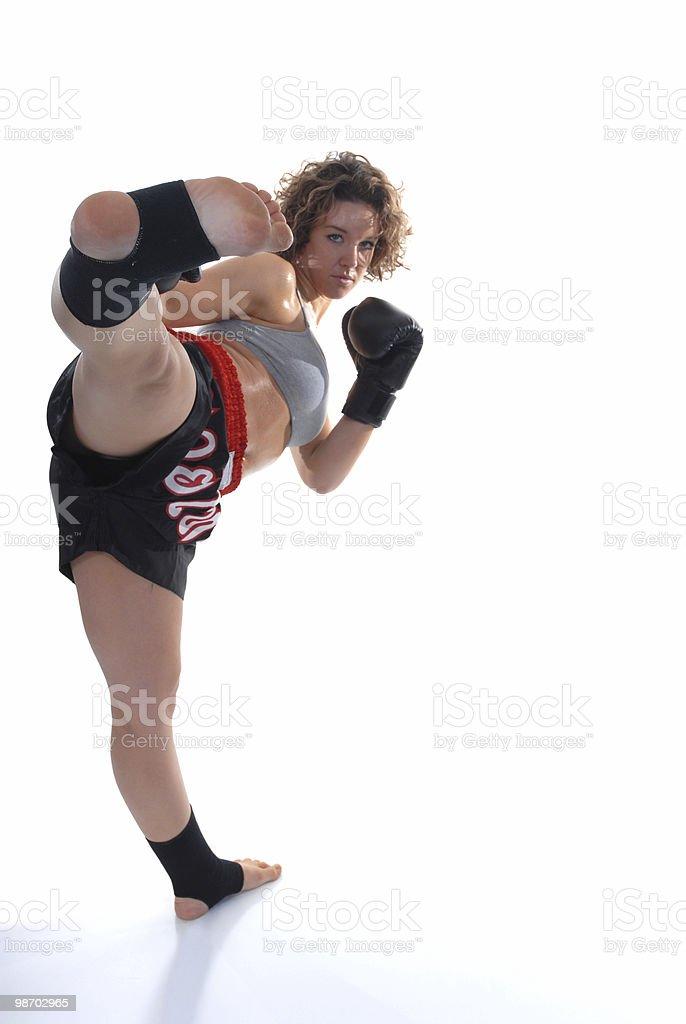 Muay thai kickboxing royalty-free stock photo