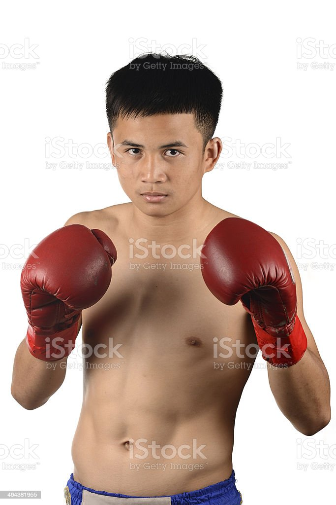 Muay Thai Male Boxer royalty-free stock photo