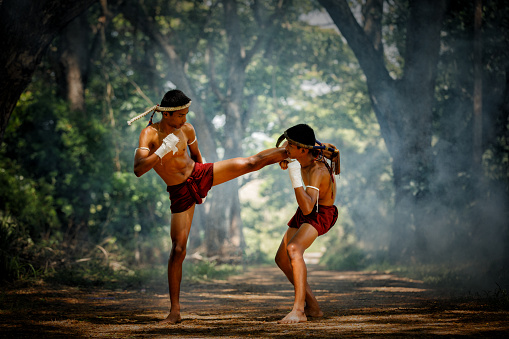Muay Thai Or Thai Boxing At Thailand Stock Photo - Download Image Now