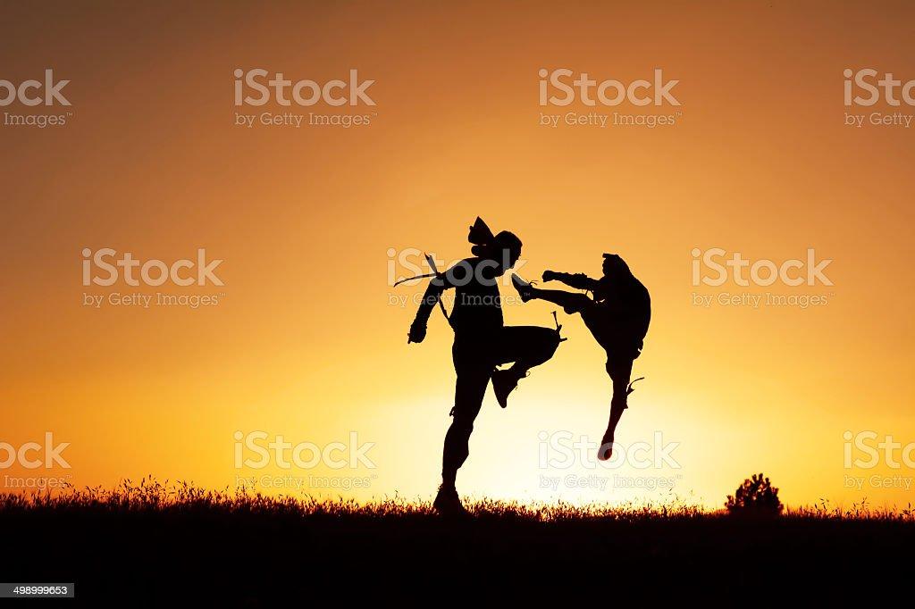 muay thai sport stock photo