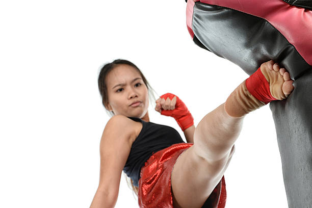 Muay Thai Strike stock photo