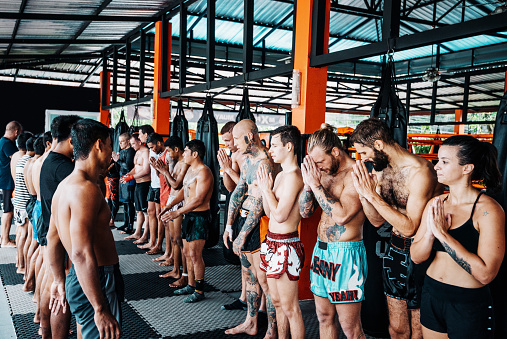Muay Thai Training Is Over Stock Photo - Download Image Now
