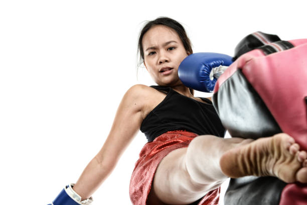 Muay Thai Work stock photo