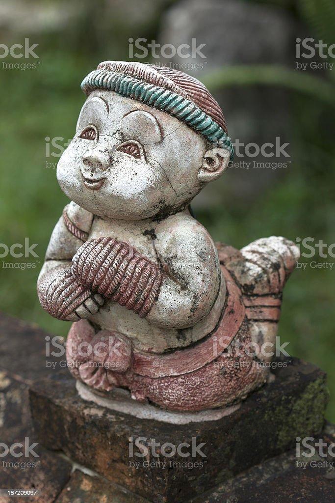 muaythai antique decorate in thailand stock photo