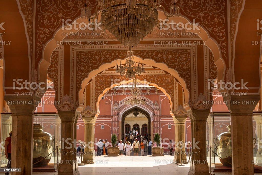 Jaipur, India - March 3, 2017. Mubarak Mahal in Jaipur City Palace, Rajasthan, India. photo libre de droits